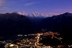 Interlaken (Michal Jeska) Tags: interlaken harderkulm eiger mönch jungfrau city mountains mountain alps alpen alpes swiss switzerland canoneos7d canon7d canonefs18135mmf3556isstm night