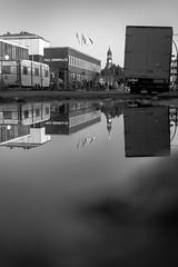 Pfütze (Just_Maze) Tags: michel stmichaelis hamburg hafen harbor germany pfütze puddle reflections spiegelung