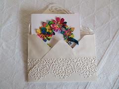 Quick card and presentation envelope (scrappy annie) Tags: card cardmaking handmadecard diecut diecutflowers diecutting diecuts