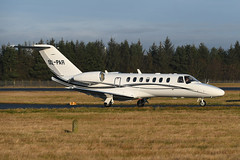 OO-PAR Cessna 525B Citationjet CJ3 EGPH 19-01-20 (MarkP51) Tags: scotland airport edinburgh edi egph sunshine plane airplane nikon image aircraft airliner d500 markp51 nikonafp70300fx sunny cessna citationjet bizjet cj3 corporatejet 525b oopar