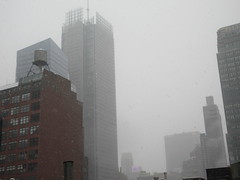 2020 First January Snow Storm - Hells Kitchen Clinton 4556 (Brechtbug) Tags: 2020 mini snow storm hells kitchen clinton near times square broadway nyc 01182020 new york city midtown manhattan snowing storms snowstorm winter weather building fog like foggy january 18th pre birthday hell s nemo southern view