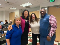 "Tanya Bradsher, chief of staff, speaking with Falls Church Dems • <a style=""font-size:0.8em;"" href=""http://www.flickr.com/photos/117301827@N08/49414983121/"" target=""_blank"">View on Flickr</a>"