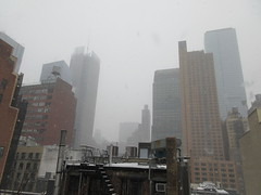 2020 First January Snow Storm - Hells Kitchen Clinton 4545 (Brechtbug) Tags: 2020 mini snow storm hells kitchen clinton near times square broadway nyc 01182020 new york city midtown manhattan snowing storms snowstorm winter weather building fog like foggy january 18th pre birthday hell s nemo southern view