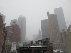 2020 First January Snow Storm - Hells Kitchen Clinton 4544 (Brechtbug) Tags: 2020 mini snow storm hells kitchen clinton near times square broadway nyc 01182020 new york city midtown manhattan snowing storms snowstorm winter weather building fog like foggy january 18th pre birthday hell s nemo southern view