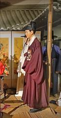 Le marié en costume traditionnel (musée des ATP de Séoul, Corée du sud)