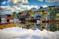 Fishing Village. Halifax, Canada (Mario & Debbie) Tags: fishingvillage east cove peggy'scove water sky sea pier canada novascotia village fishing