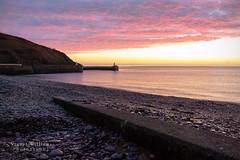 Laxey Beach Sunrise. (cabmanstu) Tags: isleofman laxey beach sunrise dawn landscape sea coast nikon lighthouse nature