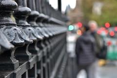 London Lights.... (markwilkins64) Tags: london parliamentsquare housesofparliament westminster streetphotography street bokeh railings markwilkins