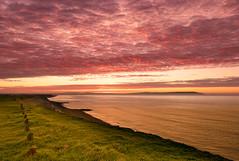 Mad morning dash (Christine down south) Tags: mackerel sky redsky bartononsea newforest clifftop view sunrise southcoast