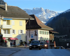 The hustle and bustle of the big city (oobwoodman) Tags: switzerland suisse schweiz charmey fribourg church église kirche gastlosen alps alpen alpes mountains berge montagne hotel marechalferrant