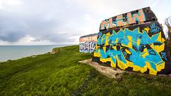 LE BUNKER SUR LA FALAISE (nARCOTO) Tags: blockhaus normandie normandy graffiti graff graffitis
