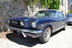 Ford Mustang GT Cabriolet (Monde-Auto Passion Photos) Tags: voiture vehicule auto automobile cars ford mustang gt cabriolet convertible roadster sportive spider bleu blue ancienne classique légende collection france barbizon