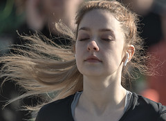 Run In A Zen State (Scott 97006) Tags: woman female lady athlete competition race running hair blonde motion ear