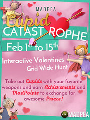 MadPea's Cupid Catastrophe: Coming Soon! (MadPea Productions) Tags: madpeaproductions madpeascupidcatastrophe cupid hunt hunts hunting hunter hunters gridwide slverse achievements achievement prize prizes decor decoration decorations rides vehicles clothing shinyprizes