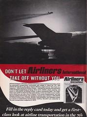 Trains Magazine (heytampa) Tags: trainsmagazine airlinersinternational magazine ad advertisement 1973