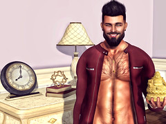 [ 📷 - 290 ] (insociable.sl) Tags: flairnstyle vanity zoe magnificient n7 nero bouddha smile hairy model beard boy man male edit sl secondlife