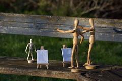 The art class (Mount Fuji Man) Tags: newport shropshire mannequin easel bench hereios wah wh nikond7200 d7200 nikon