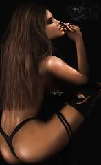 .  i  d o n 't  g i v e  a   * * * k  . (Cataleya.) Tags: photoshop secondlife sl virtual unreal woman brunette cataleya painting