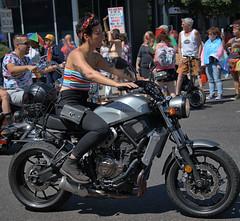 Yamaha Rider (Scott 97006) Tags: rider motorcycle bike parade crowd street