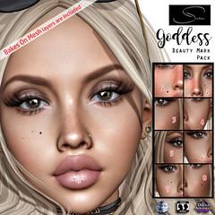 Stellar Goddess Beauty Mark Pack (Lexi★Morgan) Tags: leximorgan stellar genus omega bakesonmesh bom applier meshhead secondlife avatar makeup facemole cosmetic