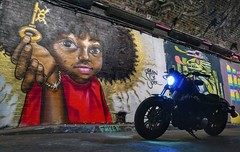 Harley and the key (Westhamwolf) Tags: harley motorbike bike light street art graffiti leake tunnel london city capital england davidson