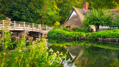 Bridge Cottage At Flatford Mill (Aron Radford Photography) Tags: flatford mill east bergholt suffolk john constable river stour water reflections bridge cottage summer riverside