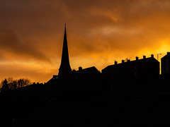 Mossley Sunset (Craig Hannah) Tags: mossley tameside manchester greatermanchester lancashire sunset lastlight church pennine northern town village orange nightsky craighannah january 2020 terrace england uk outdoors evening
