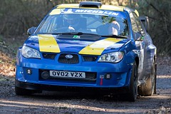 Subaru Impreza - Beaumont-Thomas ({House} Photography) Tags: winter rally stages brands hatch uk kent fawkham circuit track tarmac car automotive race racing motor sport motorsport housephotography timothyhouse canon 7d mk2 subaru impreza