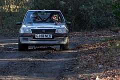 Peugeot 205 GTi - Mayhew-Bristow ({House} Photography) Tags: winter rally stages brands hatch uk kent fawkham circuit track tarmac car automotive race racing motor sport motorsport housephotography timothyhouse canon 7d mk2 peugeot 205 gti