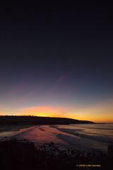 3KA14410a_C (Kernowfile) Tags: cornwall cornish pentax stives porthmeorbeach sea water sky clearsky sunset sunsetlight reflections beach waves