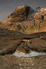 Harrison Stickle reflections (Tim_Chetwood) Tags: landscape lakedistrict lakes river ice snow winter visitengland uk langdales cumbria sunrise wainwright