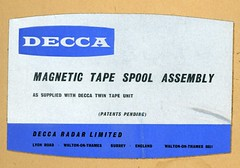 decca magnetic tape spool assembly (foundin_a_attic) Tags: decca magnetic tape spool assembly radar limited 1965