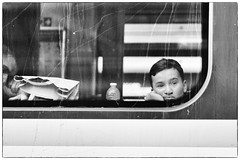 Travelling in Blue Monday (margycrane) Tags: travel train boy passenger railwaystation blackwhite moody sonyilce7m3 85mmf14za
