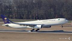 Airbus A330-343, Saudi Arabian Airlines, HZ-AQ26 (maxguenat) Tags: lsgg gva cointrin spotter spotting aircraft airplane airplanes airbus a330 hzaq26