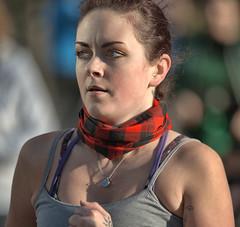 On The Run (Scott 97006) Tags: woman female lady athlete running race pretty tartan