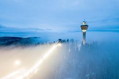 Puijo ilmakuva sumuaamu 2 (VisitLakeland) Tags: finland kuopio lakeland puijo puijopeak puijonaturepark puijonstadion puijontorni aamu forest lumi luonto maisema metsä misty morning mäkihyppy mäkihyppytorni nature naturepark naturereserve outdoor puijotower scenery skijumping snow sumu talvi winter