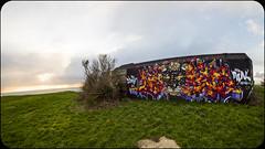 LE BUNKER DE LA PANTHèRE (nARCOTO) Tags: blockhaus normandie normandy graffiti graff graffitis