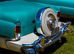 Lots of chrome. (sunluva) Tags: car chrome customcar hotrod carshow gleaming wheel mercury ford bumper
