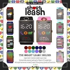 .:Short Leash:. The Smart Leash Holder (Short Leash // original mesh & virtual kink) Tags: shortleash secondlife sl accessories wearables leash leashed leashholder smart smartwatch master mister sir femdom maledom miss mistress tech gadget watch digital bdsm kink kinky control menonlymonthly