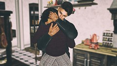 Momming (sloaneb.) Tags: family 1950 roleplayer secondlife mother son sad tragic love friendship hugs comfort loss characters cooking relationships