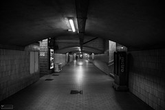 Lonely Tunnel (vbytvutj50) Tags: leuven belgium station tunnel solitude lonely empty black white bnw underground