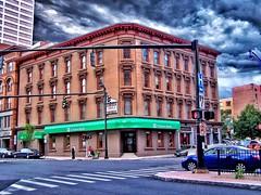 Hartford Connecticut - Charter Oak Bank Building - HIstoric (Onasill ~ Bill Badzo - New Format) Tags: hartford cy connecticut charter oak bank building historic nrhp landmark cornice asylum brownstone county sky clouds ct