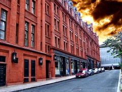 Goodwin Hotel - Hartford Connecticut - Architecture - Queen Anne (Onasill ~ Bill Badzo - New Format) Tags: hartford ct connecticut goodwin hotel historic nrhp sky clouds onasill building architecture queen anne victorian red brick downtown english francis kimball style landmark adaptive eeused dayhouse sunset