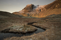 Icy road to Harrison Stickle (Tim_Chetwood) Tags: landscape lakedistrict lakes river ice snow winter visitengland uk langdales cumbria sunrise wainwright