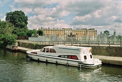 Found Film Photo (Delay Tactics) Tags: found film photo hampton court london river thames le boat barge transport clouds sky palace boring mystique water