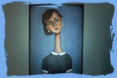 Elongated Lady1661 (Foto Lenz) Tags: oil painting art color border lady photoshop