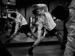 7729 - Stretching (Diego Rosato) Tags: mattia stretching warm up riscaldamento allenamento training little boxer piccolo pugile boxe boxing pugilato boxelatina bianconero blackwhite fuji x30 rawtherapee