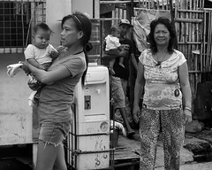 Coming Out (Beegee49) Tags: street people filipina man children babies blackandwhite monochrome sony bw city bacolod philippines asia happyplanet asiafavorites