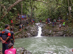 Gatherimg Around Natural Pool (mikecogh) Tags: colisuva forest fiji natural pool waterfall gathering