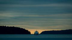 BC Ferries - Salish Orca (kevin.boyd) Tags: green blue sunset orange teal ferry ocean juan de fuca georga strait island islands trees silhouette boat horizon moody ship bc canada gulfislands